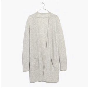 Madewell Grey Kent Wool Knit Cardigan Sweater